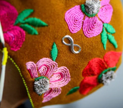 Eliza Firth's 'Delta Rose' mask will be on display as part of the Breathe
