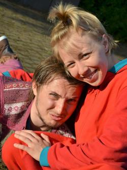 Ärripurri (Ilkka Hämäläinen) ja Vilma (Vilma Putro). Känkkäränkkä. Kuva Suvi Lahdenmäki