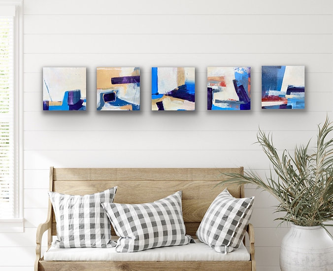 Series of five paintings: A Day At The Seaside now SOLD
