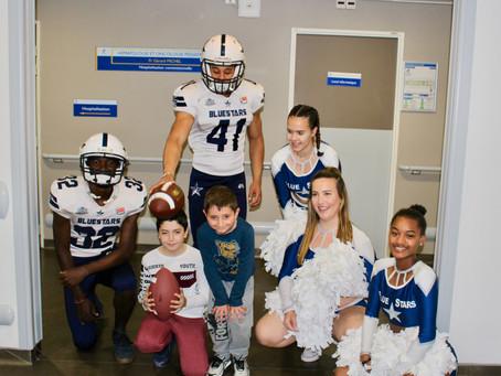 Visite des Blue Stars au service pédiatrique de la Timone