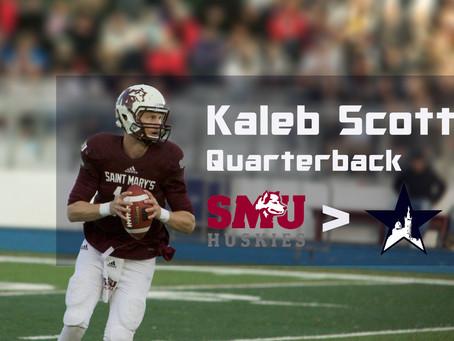 Exit Trevor Knight, Welcome Kaleb Scott