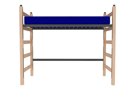 Jr. Loft Height Wood Bed