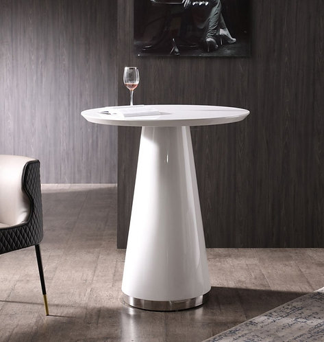 Contemporary White High Gloss Bar Table