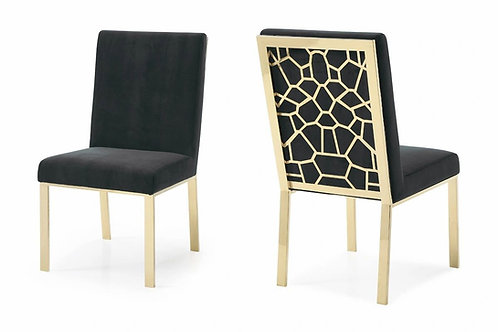 BLACK & GOLD DINING CHAIR