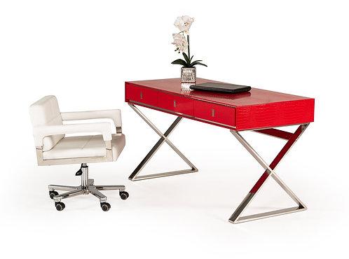 Transitional Red  Desk