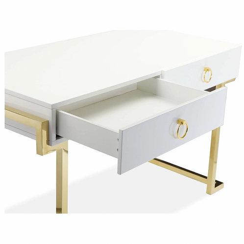 Desk White & Gold