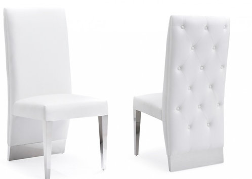 Modern White  Stainless Steel Dining