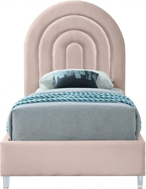 Velvet Twin Bed