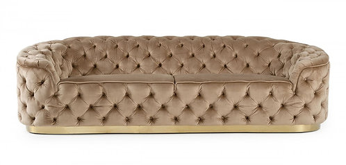 Sofa Beige and Gold