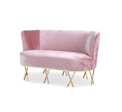 Karina pink Velvet w/ Gold legs
