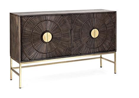 Carved Wood Sideboard Cabinet
