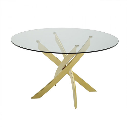 Modern Round Glass Dining Table