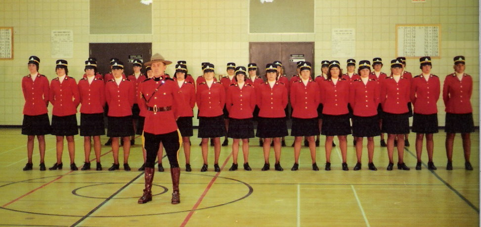 Karen and the first email troop at the RCMP training facility in Regina, Saskatchewan.