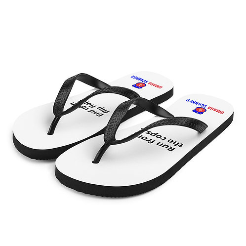 """Omaha Scanner """"Run from the cops... End up in flip-flops"""""""