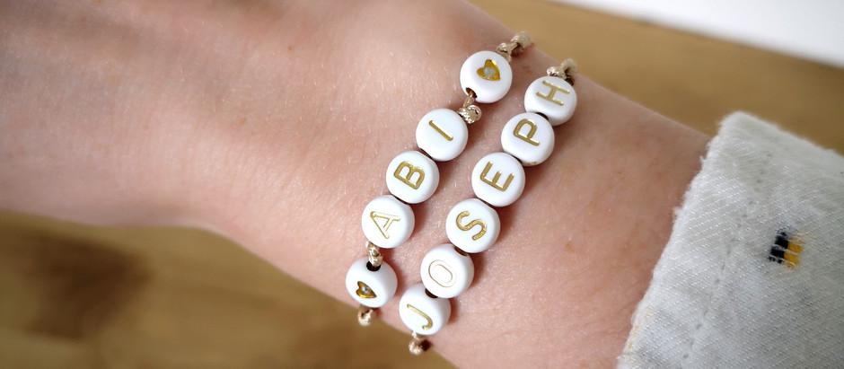 DIY bracelet en perles lettres avec MESSAGE à personnaliser