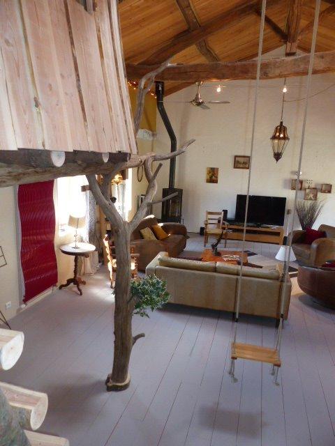Salon avec cabane