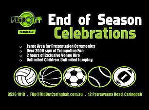 Sport season celebration flip out caringbah taren point fullvenue