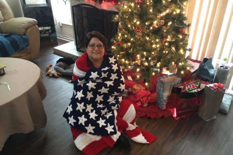 Marsha and American Flag Blanket.jpg