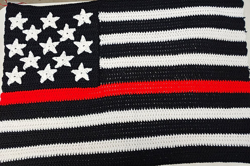 Thin Line American Flag Baby Blanket