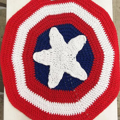 Captain America Shield Baby Blanket