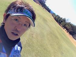 初打ちーーー!(昨日ですけどねww)_お天気も最高で、なまった身体にはいい運動で楽しかった〜♪_今年も楽しい事たくさんしていこー(_☻-☻_)_めぇー@ 'ェ' @