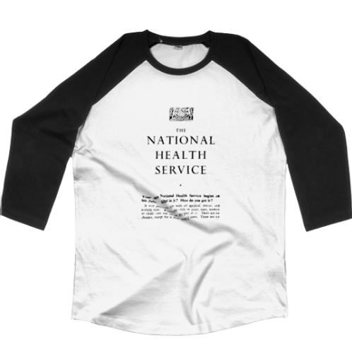Black & White Unisex NHS Baseball T-shirt