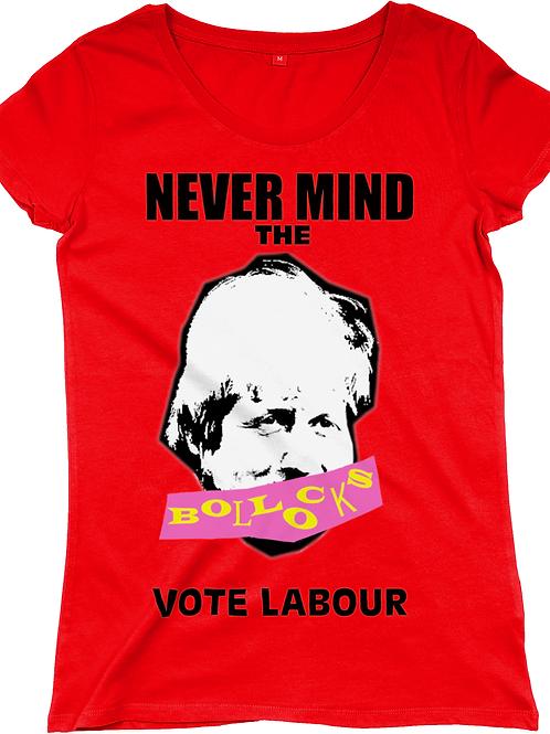 Never Mind the Boris Women's Regular Fitted T-shirt