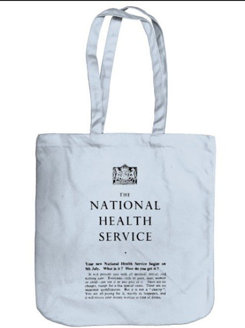 Light Blue EarthAware NHS Organic Spring Tote