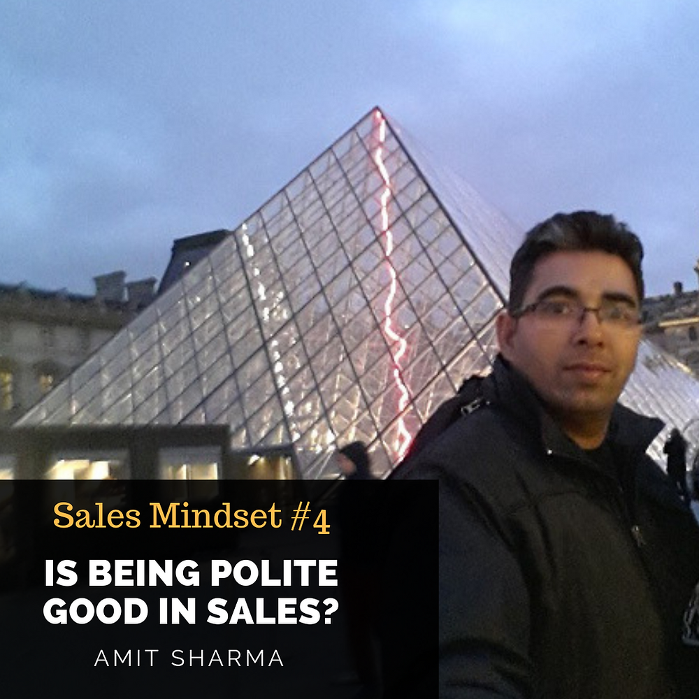 Is being polite good in sales
