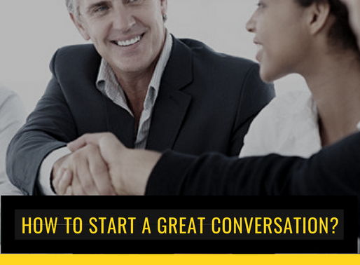 How to start a conversation with a customer?