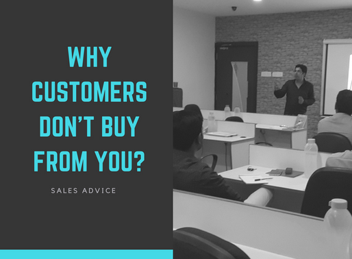 Top Reason - Why Customers don't buy From You