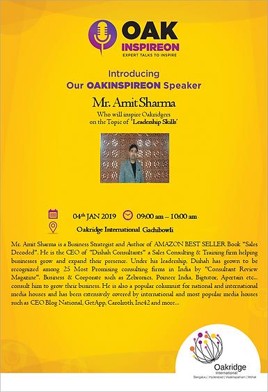 My recent Expert Talk on Leadership Skills at Oakridge International