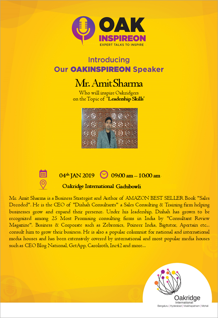 Guest Speaker Invite for Amit Sharma Top Sales Leader in India