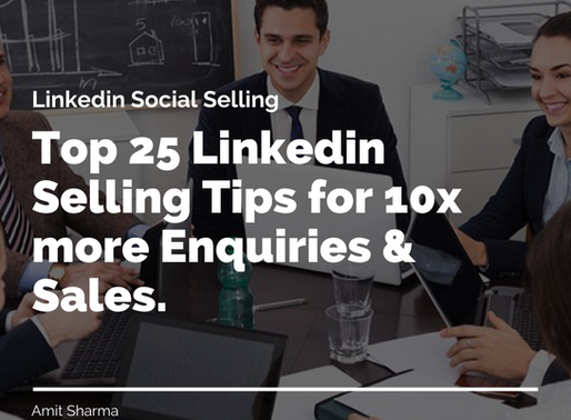How to Generate Inquiries & Sales using Linkedin Social Selling