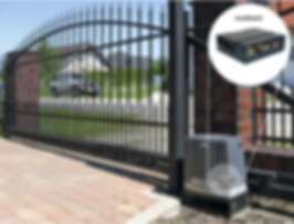 Gate with image of controller inside the