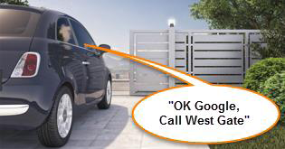 Gate with OK Google call West Gate.png
