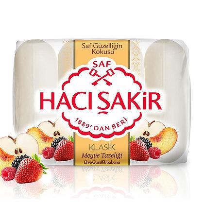 Hacı Şakir Φρεσκάδα φρούτων σαπουνιού χεριών και ομορφιάς 4 κομμ.
