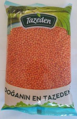 Tazeden Kirmizi Futbol Mercimek 900gr