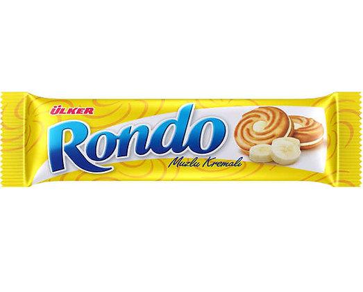 Ülker Rondo Μπισκότα μπανάνας κρέμας
