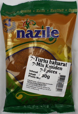 Nazile επτά είδη μπαχαρικών 100γρ