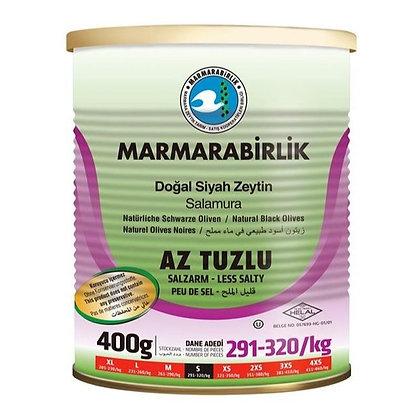 Marmarabirlik Λιγότερο αλάτι Hyper Pickled Black Olive 400 γρ