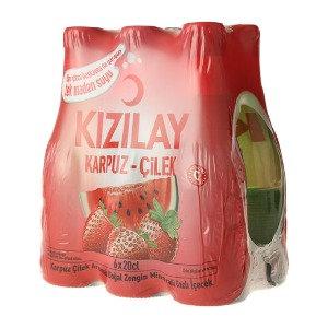 Kizilay Soda Karpuz-Cilek Aromali 6'li