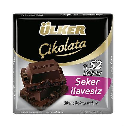 Ülker Kare Çikolata %52 Bitter Şeker İlavesiz