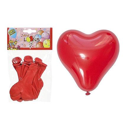 Balon Kırmızı Kalpli 10adet