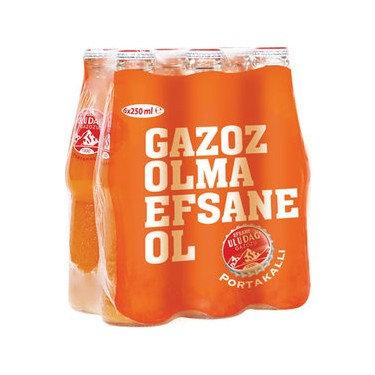Uludağ Portakallı Gazoz 250ml 6li