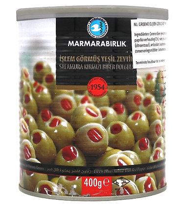 Marmarabirlik Biberli Yesil Zeytin 400gr