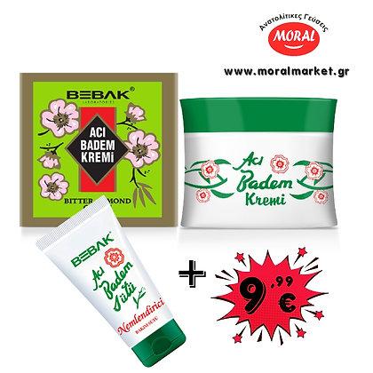 Bebak Acı Badem Kremi 70ml + Acı Badem Sütü 60ml