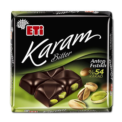 Eti Karam Bitter σοκολάτα φυστικιού 60 γρ