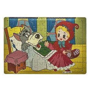 Puzzle Ahsap Kırmızı Başlıklı Kız ve Kurt 60 Parca 30x22cm