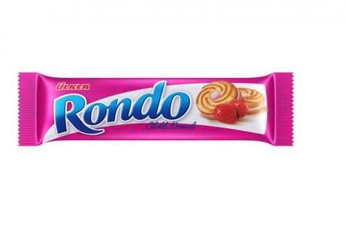 Ülker Rondo Çilekli Kremalı Bisküvi
